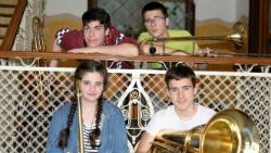 Quartet de trombons i tuba de l'Escola Municipal de Música de Girona. Font: web de la Fundació Rafael Masó