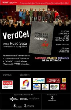 """Concert """"VerdCel"""". Font: web del Museu Memorial de l'Exili (MUME)"""