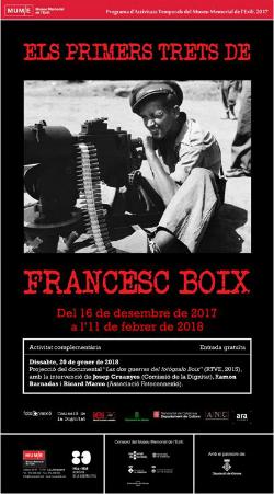"""Exposició """"Els primers trets de Francesc Boix"""".  Font: web del Museu Memorial de l'Exili (MUME)"""