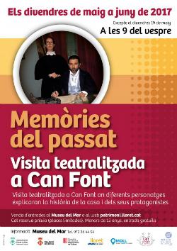 """Visites teatralitzades a can Font """"Memòries del passat"""". Font: web de l'Ajuntament de Lloret de Mar"""