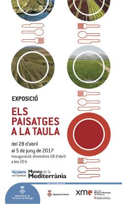 """Exposició """"Els paisatges a taula"""". Font: web del Museu de la Mediterrània"""