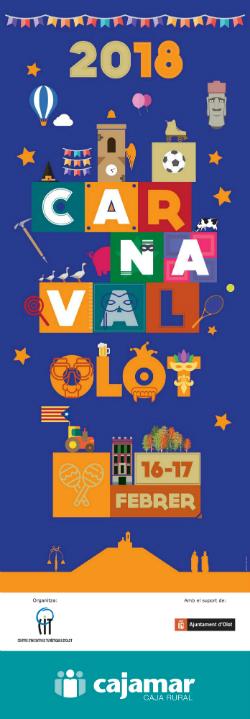 Carnaval d'Olot 2018. Font: Centre d'Iniciatives Turístiques d'Olot (Citolot)