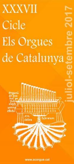 XXXVII Cicle de concerts Els Orgues de Catalunya