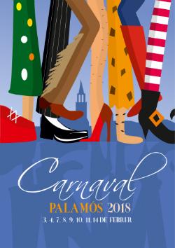 Carnaval de Palamós 2018 (l'autor és el dissenyador Josep Portas). Font: web de l'Ajuntament de Palamós
