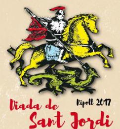 Celebració de la diada de Sant Jordi 2017 a Ripoll