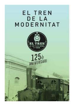 Exposició 'El tren de la Modernitat'