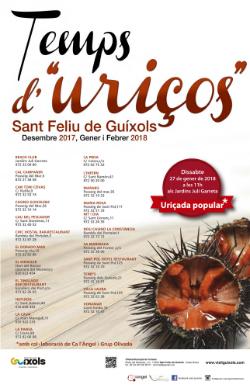 """Campanya gastronòmica """"Temps d'uriços 2017-2018"""". Font: web de l'Ajuntament"""