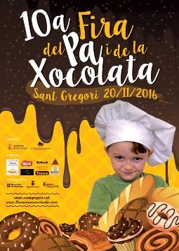 X Fira del Pa i de la Xocolata de Sant Gregori. Font: web de l'ajuntament