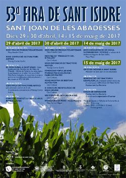 LIII Fira de Sant Isidre a Sant Joan de les Abadesses. Font: web de l'Ajuntament