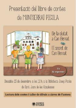 Presentació del llibre de contes De la ciutat a can Bernat. El secret de can Bernat, de Montserrat Picola