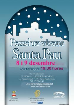 Pessebre Vivent de Santa Pau. Font: web de l'Ajuntament