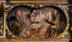 """Conferència """"Els set secrets del retaule barroc de Santa Caterina del Montgrí"""" . Font: web de la Fundació Vila Casas"""