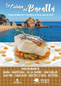 """VII Campanya gastronòmica """"La Cuina del Bacallà"""". Font: web de l'Ajuntament de Tossa de Mar"""